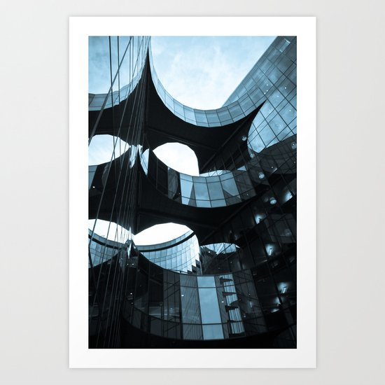 Southbank Building abstract Art Print