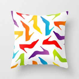 Colorful Womens heels Throw Pillow