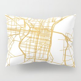 PHILADELPHIA PENNSYLVANIA CITY STREET MAP ART Pillow Sham