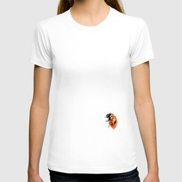 Ladybug on white background #decor #society6 T-shirt