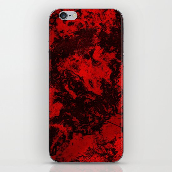 Galaxy in Red iPhone & iPod Skin