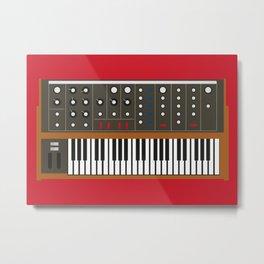 Mini Moog Synth Metal Print