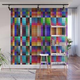 """Colorful Neon Geometric """"Nareni"""" Wall Mural"""