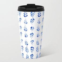Indigo Blossom Travel Mug