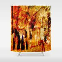 dreamcatcher Shower Curtains featuring Dreamcatcher by valzart