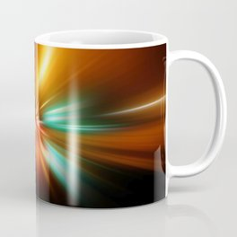 abstract acceleration speed motion on night road Coffee Mug