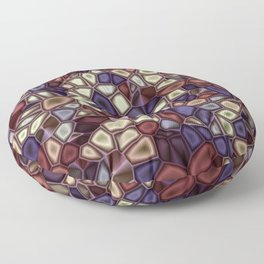 Fractal Gems 01 - Fall Vibrant Floor Pillow