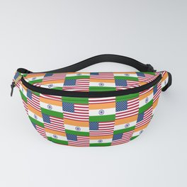 Mix of flag : usa and India Fanny Pack