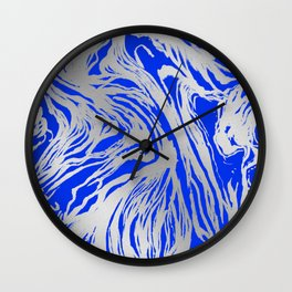 Marbled Blue Wall Clock