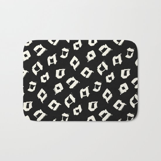 Tribal Square Dots Bath Mat