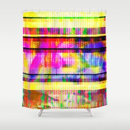 Databending #2 (Hidden Messages) Shower Curtain