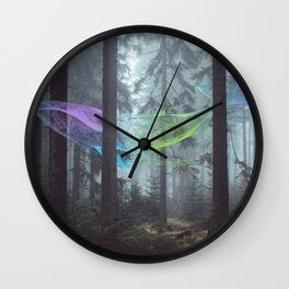 Whale Music in the Forest Wall Clock