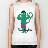 grease Biker Tanks featuring Grease Monkey Hulk by devinternet