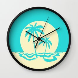 Calm Palm Wall Clock