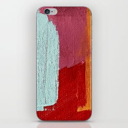 Desert Daydreams [2]: a vibrant, colorful abstract acrylic piece in pink, red, orange, and blue iPhone Skin