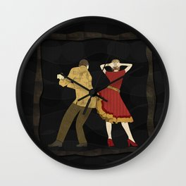 Free Style Dance Party Wall Clock
