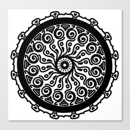 Confidence: Self-empowerment Mandala Canvas Print