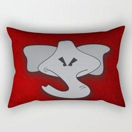 Enraged Elephant Rectangular Pillow