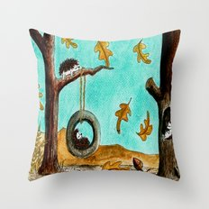 Autumn laziness  Throw Pillow