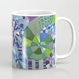 "Moo's Mom's Abstract art ""Teal Swirl"" Coffee Mug"