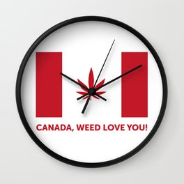 Canada legalization Wall Clock