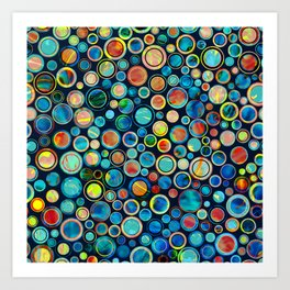 Dots on Painted Background Art Print