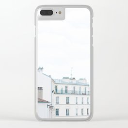 Paris France Sunny Day Skyline Buildings Clear iPhone Case