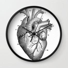 ANATOMY OF A HEART Wall Clock