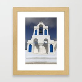 Bell tower - Santorini Framed Art Print