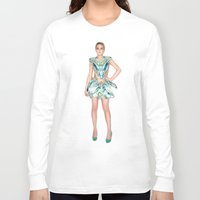 lindsay lohan Long Sleeve T-shirts featuring Lohan in McQueen by russianelf
