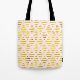 Gold Abstract Lines Pattern Tote Bag