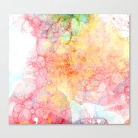 bubbles Canvas Prints featuring Bubbles by emilie