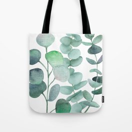 Watercolor, eucalyptus, leaves, botanical, foliage, plants, jungle decor Tote Bag