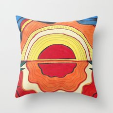 Ocean Sunset Throw Pillow