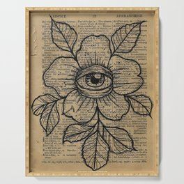 Flower with Eye: Beauty is in the Eye... Serving Tray