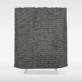 Grey Stone Bricks Wall Texture Shower Curtain