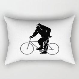 Bigfoot  riding bicycle Rectangular Pillow