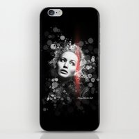 jennifer lawrence iPhone & iPod Skins featuring Jennifer Lawrence III by Rene Alberto
