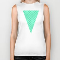 scales Biker Tanks featuring Mermaid Scales by Sam Cabading