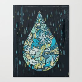 If heaven were a drop of rain Canvas Print