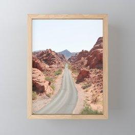 Roads Of Nevada Desert Picture | Valley Of Fire State Park Art Print | USA Travel Photography Framed Mini Art Print