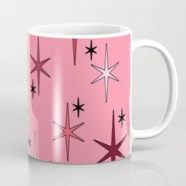 Mid Century Modern Star Sky Pink Coffee Mug