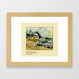 Stone Store, Kerikeri Framed Art Print