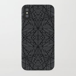 Ab Lace Black and Grey iPhone Case
