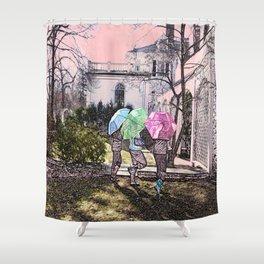 3 Umbrella's! Shower Curtain