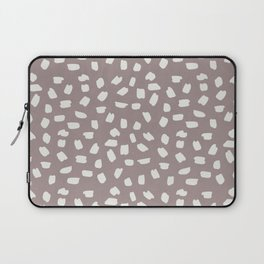 Simply Ink Splotch Lunar Gray on Red Earth Laptop Sleeve