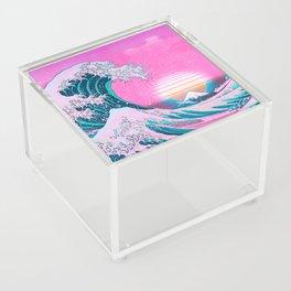 Vaporwave Aesthetic Great Wave Off Kanagawa Acrylic Box
