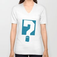 doctor who V-neck T-shirts featuring Doctor  Who? by Travis English