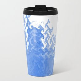 Blue fire Travel Mug