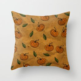 Autumn Texture Throw Pillow